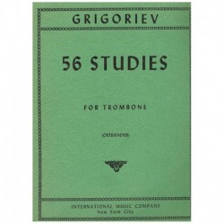 Grigoriev. 56 Estudios para Trombon