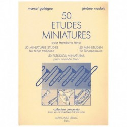Galiegue/Nau 50 Estudios Miniaturas para Trombon