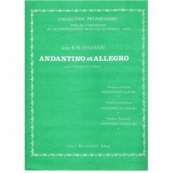 Cauffmann, J Andantino et Allegro (Trompeta y Piano)