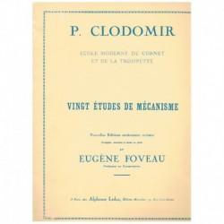 Clodomir, P. 20 Estudios de Mecanismo para Trompeta