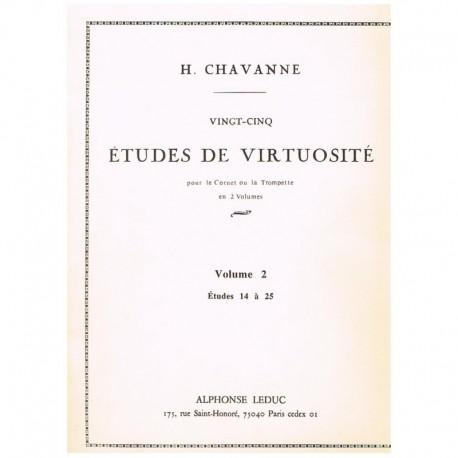 Chavanne. 25 Estudios de Virtuosidad Vol.2 (Trompeta)