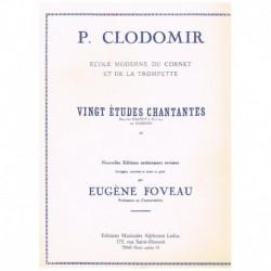 Clodomir. 20 Estudios Cantantes (Trompeta)
