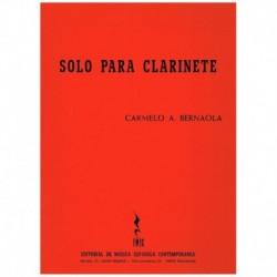 Bernaola. Solo para Clarinete