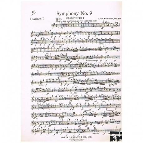 Beethoven. Sinfonia Nº9 Sib (Clarinete)
