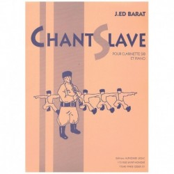 Barat, J.E. Canto Eslavo (Clarinete y Piano)