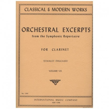 Orchestral Excerpts Vol.7 (Clarinete)