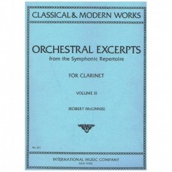 Varios. Orchestral Excerpts Vol.3 (Clarinete)