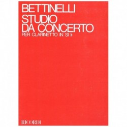 Bettinelli, Estudio de Concierto (1971) (Clarinete)