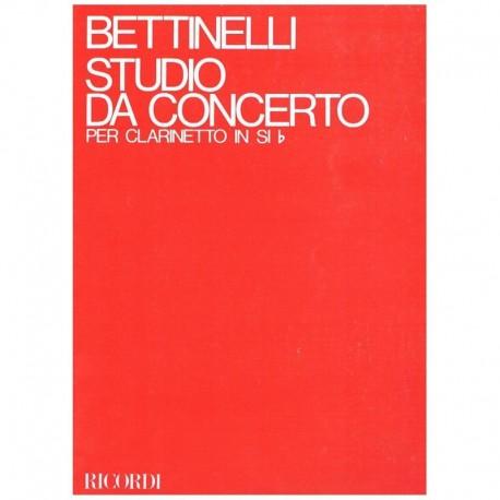 Bettinelli, Estudio de Concierto (1971) (Clarinete)