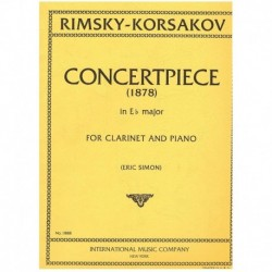 Rimsky-Korsa Pieza de Concierto (1878) Mib Mayor (Clarinete y Piano)