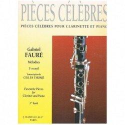 Faure. Piezas Favoritas Vol.3. Melodias (Clarinete y Piano)