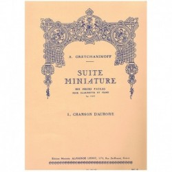 Gretchaninoff. Suite Miniature Op.145 Nº1. Chanson D'Aurore (Clarinete y Piano)