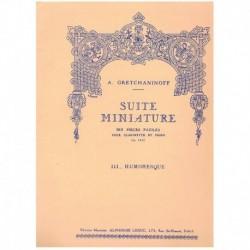 Gretchaninoff. Suite Miniature Op.145 Nº3. Humoresque (Clarinete y Piano)