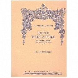 Gretchaninof Suite Miniature Op.145 Nº3. Humoresque (Clarinete y Piano)