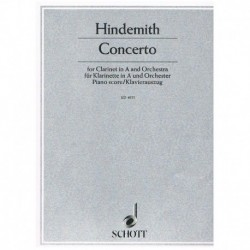 Hindemith, P Concierto (1947) (Clarinete en La y Piano)