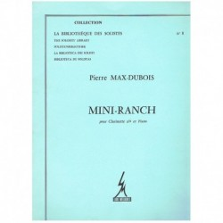 Max-Dubois. Mini-Ranch (Clarinete y Piano)