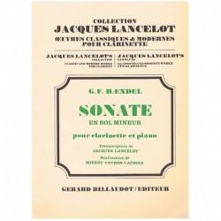 Haendel, G.F Sonata en Sol menor (Clarinete y Piano)