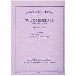 Defaye. Suite Minerale Nº1. Quartz/Diorite Orbiculaire (Clarinete y Pian