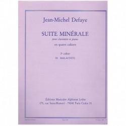 Defaye, Jean Suite Minerale Nº2. Malachite (Clarinete y Piano)