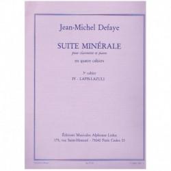 Defaye, Jean Suite Minerale Nº4. Diamant/Aigue-Marine (Clarinete y Piano)