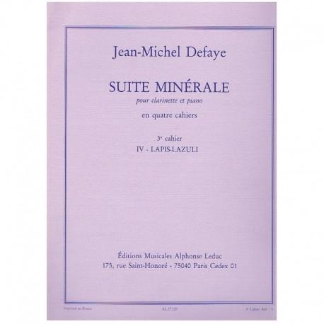 Defaye. Suite Minerale Nº4. Diamant/Aigue-Marine (Clarinete y Piano)