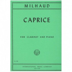 Milhaud. Caprice (Clarinete y Piano)