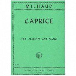 Milhaud. Caprice (Clarinete y Piano)