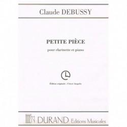 Debussy, Cla Petite Piece....