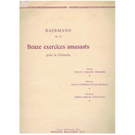 Baermann.12 Ejercicios Divertidos Op.30 (Clarinete)