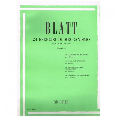 Blatt. 24 Ejercicios de Mecanismo (Clarinete)