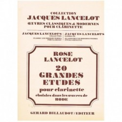 Rose. 20 Grandes Estudios para Clarinete (Rode)