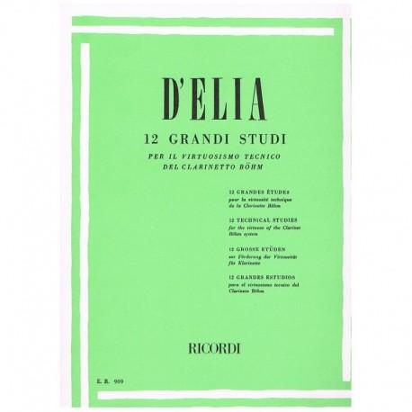 D'Elia. 12 Grandes Estudios para el Virtuosismo Tecnico del Clarinete