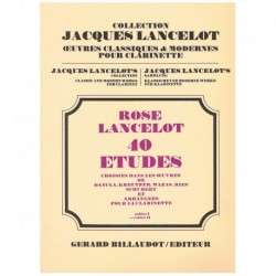 Rose/Lancelot. 40 Estudios Vol.2 (Clarinete)