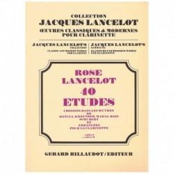 Rose/Lancelo 40 Estudios Vol.2 (Clarinete)