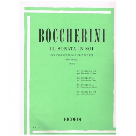 Boccherini. Sonata Nº3 Sol Mayor (Cello y Piano)
