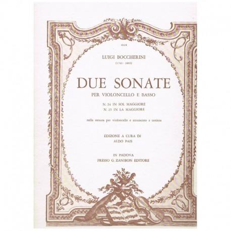 Boccherini. 2 Sonatas (Nº 24 Sol Mayor, Nº 25 La Mayor) (Cello y Piano)