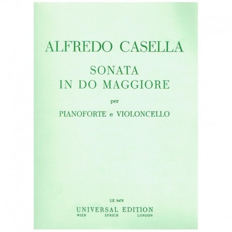 Casella. Sonata Do Mayor (Cello y Piano)