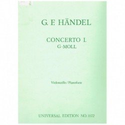 Haendel, G.F Concierto Sol menor (Cello y Piano)