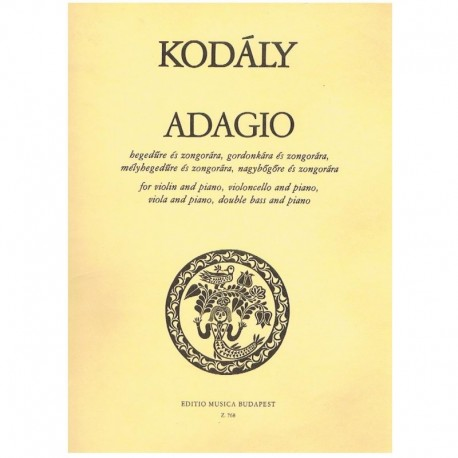Kodaly, Zolt Adagio (Cello y Piano)