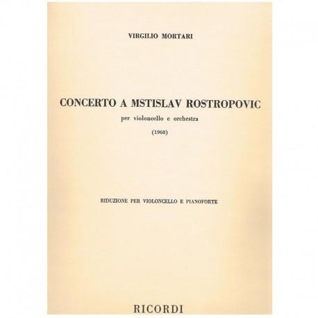 Mortari, Vir Concierto a Mstislav Rostropovic (1968) (Cello y Piano)