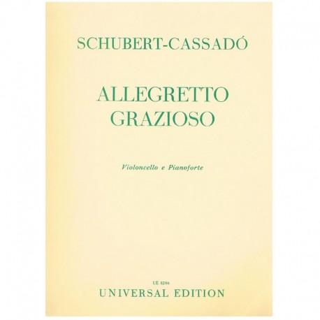 Schubert/Cas Allegretto Grazioso (Cello y Piano)