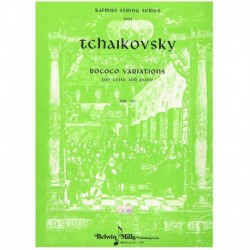 Tchaikovsky. Variaciones Rococo Op.33 (Cello y Piano)