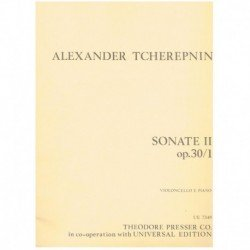 Tcherepnin. Sonata II Op.30/1 (Cello y Piano)