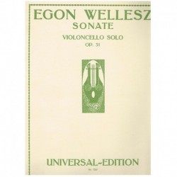 Wellesz. Sonata Op.31 (Cello)