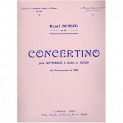 Busser, Henr Concertino Op.80 (Contrabajo y Piano)