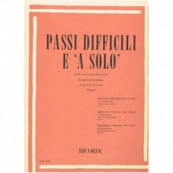 Varios. Pasajes Dificiles y Solos Vol.1 (Contrabajo)