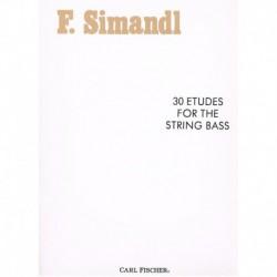 Simandl. 30 Estudios para Contrabajo