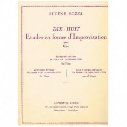 Bozza. 18 Estudios en Forma de Improvisacion (Trompa)
