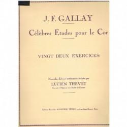 Gallay. 22 Ejercicios para Trompa