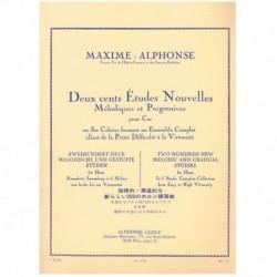 Maxime-Alphonse. 200 Nuevos Estudios Melodicos y Progresivos Vol.2 (Trompa)